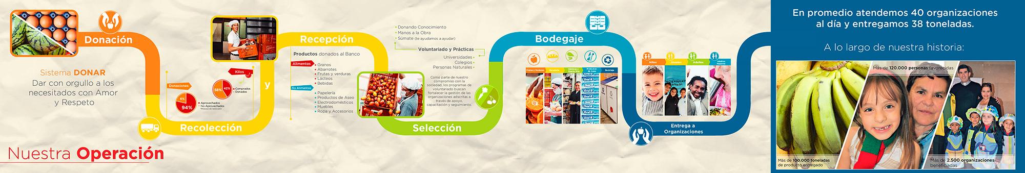 Banco de alimentos infografia